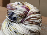 Rolling In It Hand Dyed 20% Cashmere Speckled Yarn Fingering Weight