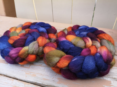 Haunted House BFL Wool Spinning Fibre Combed Top
