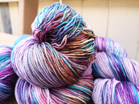 Bubblicious Hand Dyed 20% Cashmere Fingering Weight Yarn