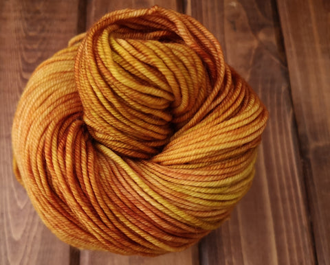 Gold Leaf Posh Worsted Hand Dyed Yarn