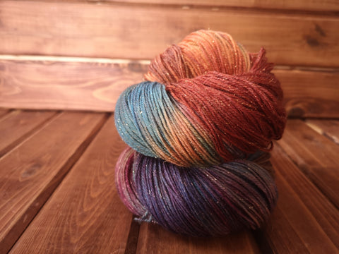Ontario Parks Hand Dyed Fingering Weight GOLD Sparkle Yarn