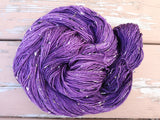 Blackberry Tweed Fingering Weight Yarn