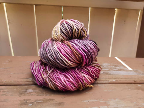 Let's Get Physical Single Ply Worsted Weight Hand Dyed Yarn