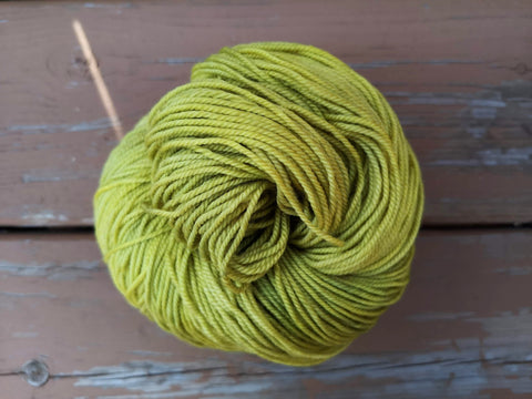Lemongrass Fingering Cash Hand Dyed Yarn