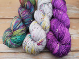 Dewy Morning Tweed Fingering Weight Hand Dyed Yarn