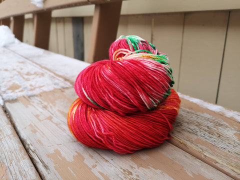 Chili Pepper Fingering Weight Sock Yarn