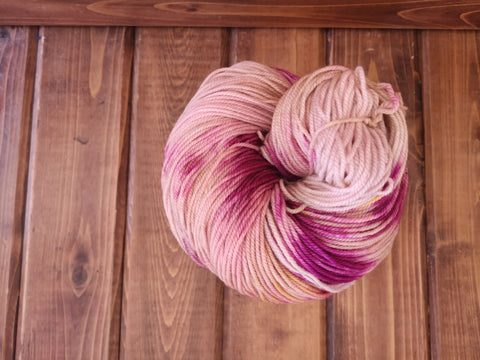 Little Miss OOAK Cash Hand Dyed Yarn