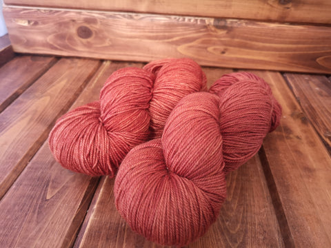 Blood Orange Fingering Cash Hand Dyed Yarn