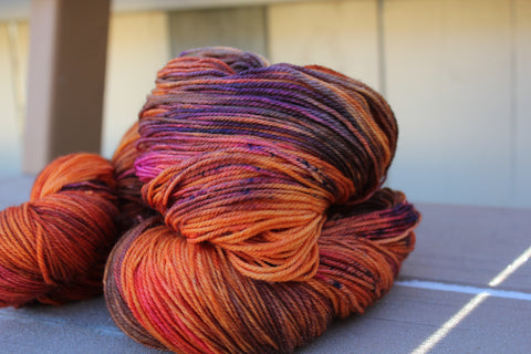Combustion Hand Dyed Yarn