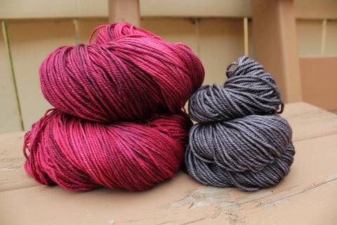 Black Cherry/Charcoal Shawl Kit