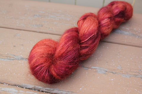 Blood Orange Downy Mohair Silk Lace Weight