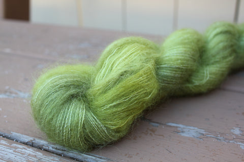 Lemongrass Downy Mohair Silk Lace Weight