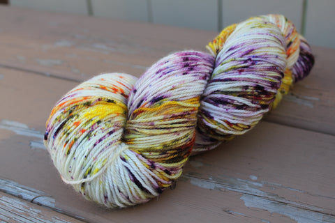 Johnny Jump Up (speckled) Fingering Weight Yarn