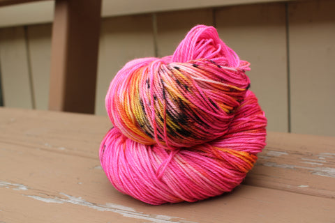 Cherry Stained Hands Fingering Weight Yarn