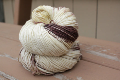 Marshmallow Hot Chocolate Fingering Weight Cash Yarn