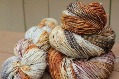 Pumpkin Chai Latte Hand Dyed Yarn