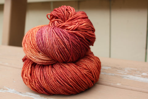 Blood Orange Fingering Weight Yarn