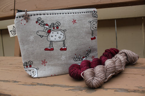 Christmas Moose Large Notions Pouch