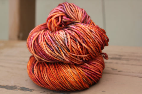Combustion Posh Worsted Hand Dyed Yarn