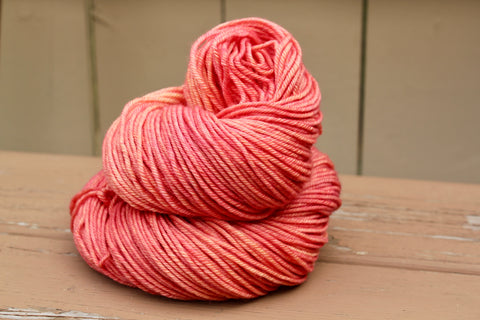 Just Peachy Posh Worsted Hand Dyed Yarn