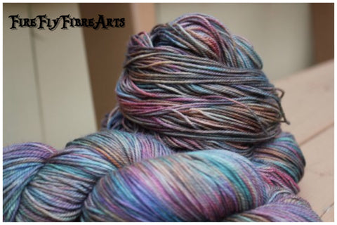 rainbow hand dyed yarn