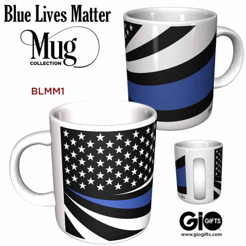 Blue Lives Matter Ceramic Mugs - gio-gifts