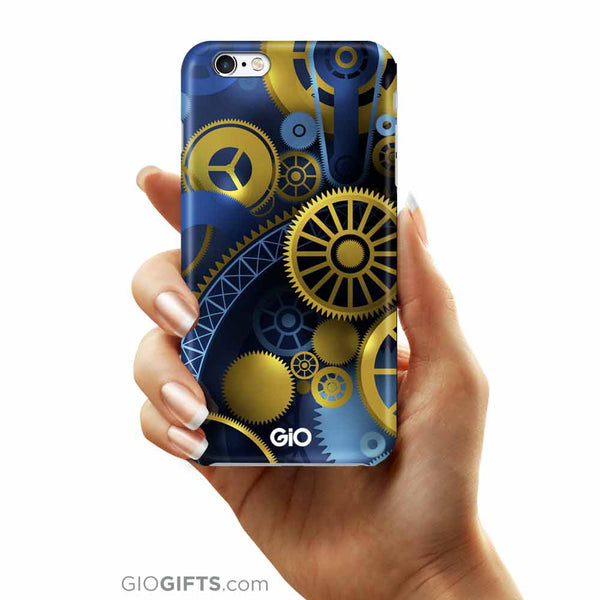 Gold Gears Phone Case | GioGifts.com