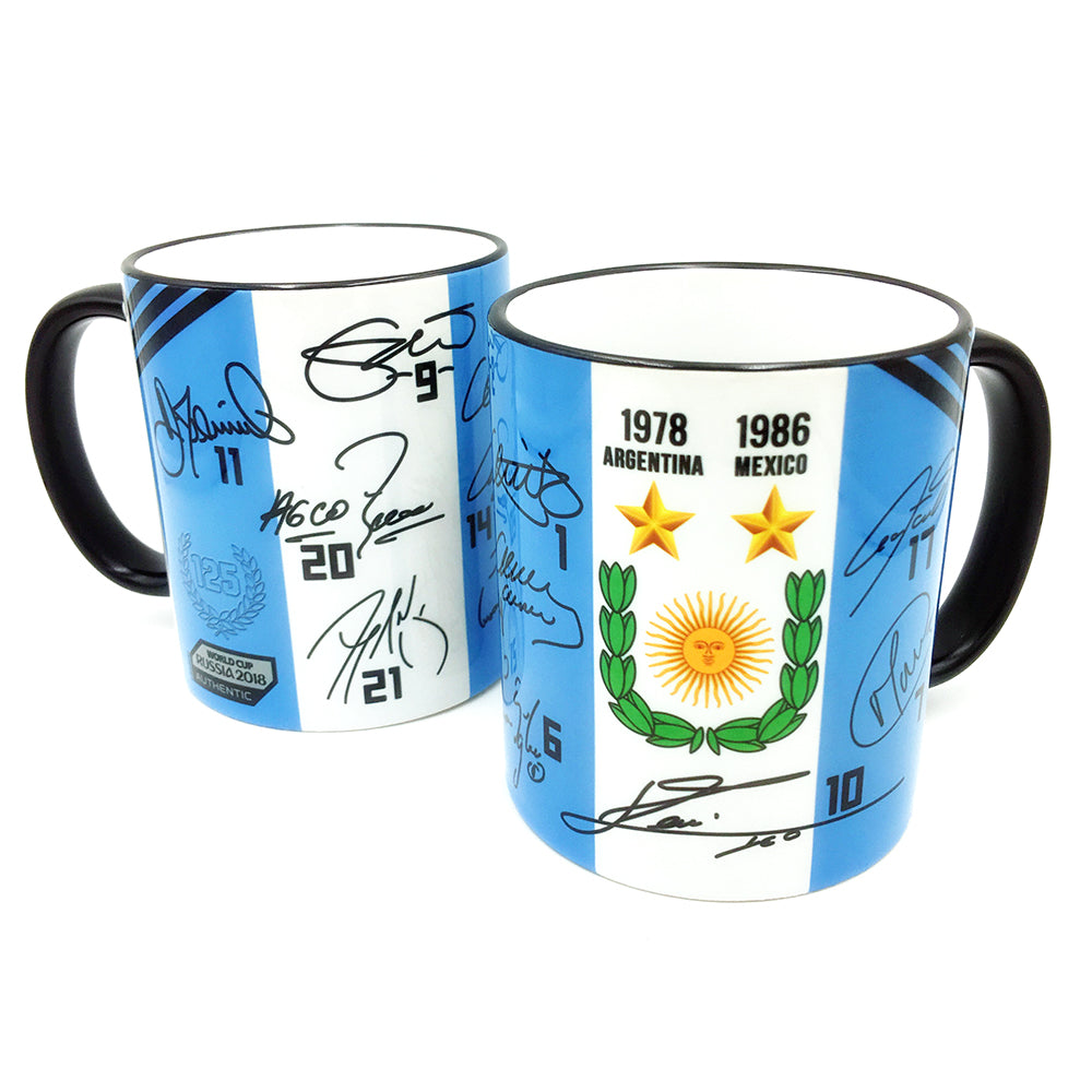 Argentina National Soccer Team Autographed Mug - gio-gifts
