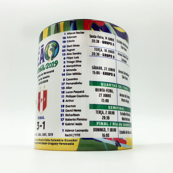 Brasil Campeão Champion Copa America Brasil 2019 Collectible Mug - gio-gifts