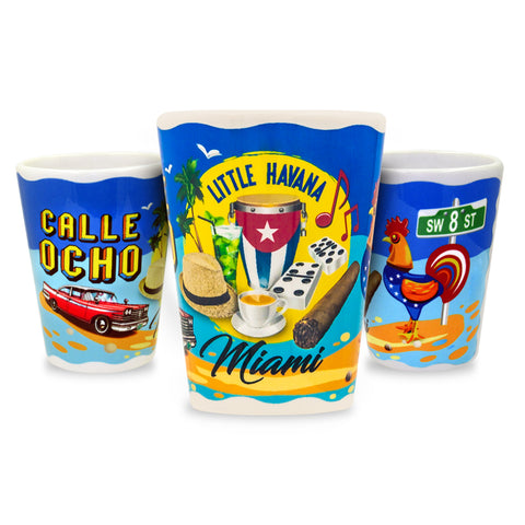 Little Havana Calle Ocho Ceramic Shot Glass - gio-gifts