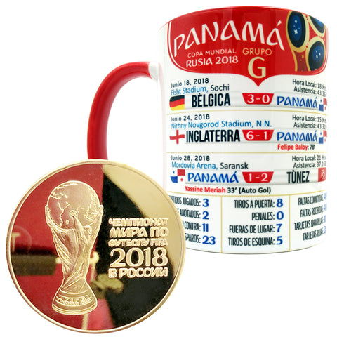 Panama 2018 World Cup Mug with Gold Coin - gio-gifts