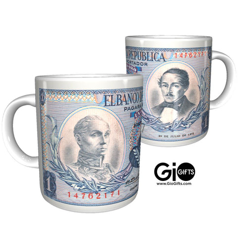 Colombia One Peso Mug - gio-gifts