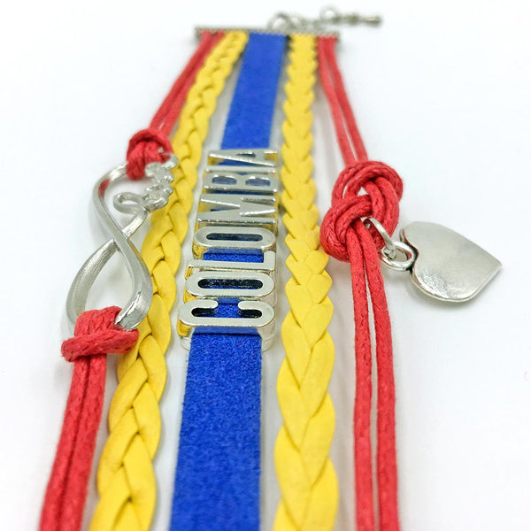 Colombia Bracelet, Braided Leather - gio-gifts