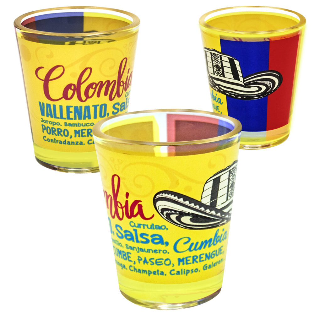 Colombia Music Shot Glass - gio-gifts