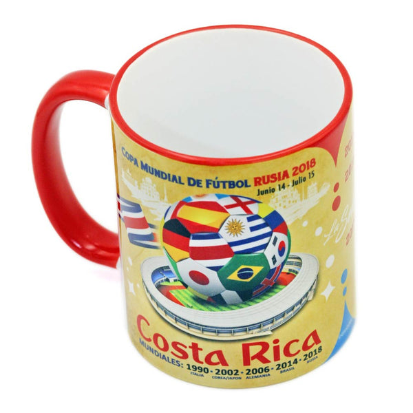 "Costa Rica, Futbol Soccer  ""The Road To Russia 2018"" Souvenir Mug"