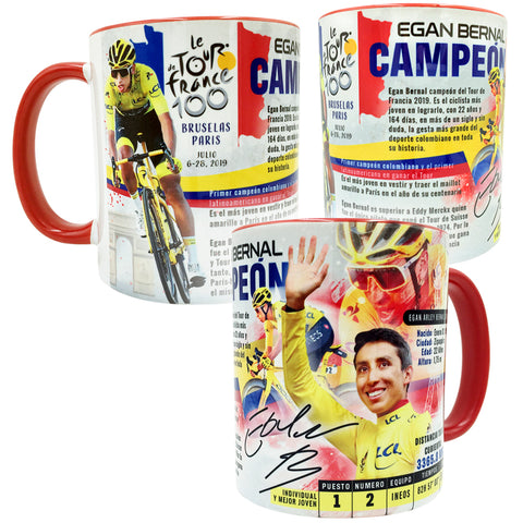 Egan Bernal COLOMBIA 2019 Tour de France Champion Sports Collectible Mug 11 Oz. - gio-gifts