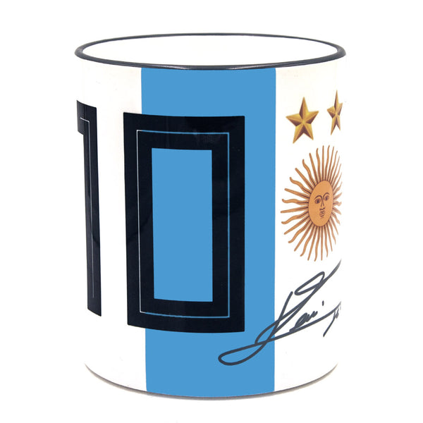 Lionel Messi Argentina Autographed Mug - gio-gifts