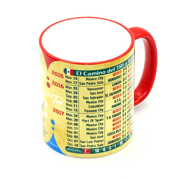 "Mexico, Futbol Soccer  ""The Road To Russia 2018"" Souvenir Mug - gio-gifts"