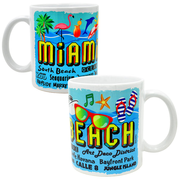 Miami Beach Coffee/Tea Mug - gio-gifts