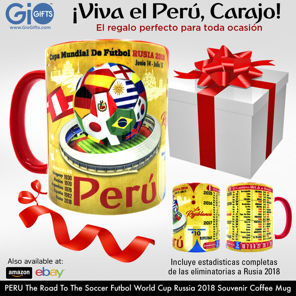 PERU, The Road To The World Cup, Russia 2018 Souvenir Coffee Mug