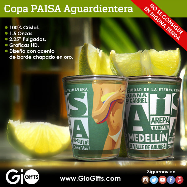 Medellin Paisa Shot Glass - gio-gifts