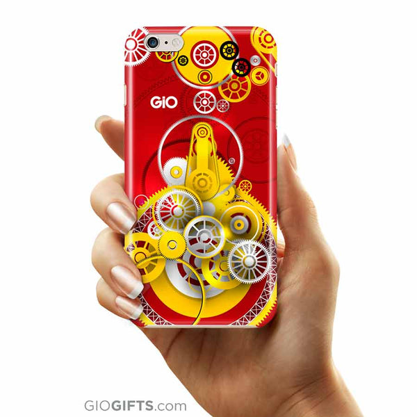 Red Gears Phone Case | GioGifts.com