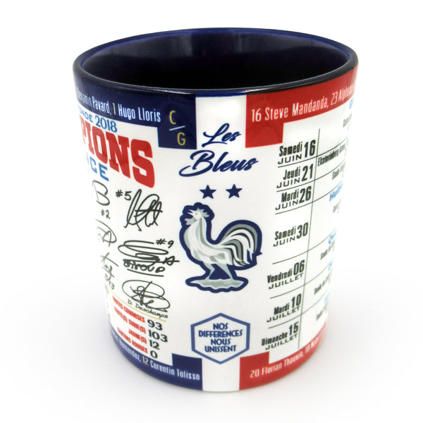 France 2018 World Cup Champion Mug with autographs - gio-gifts