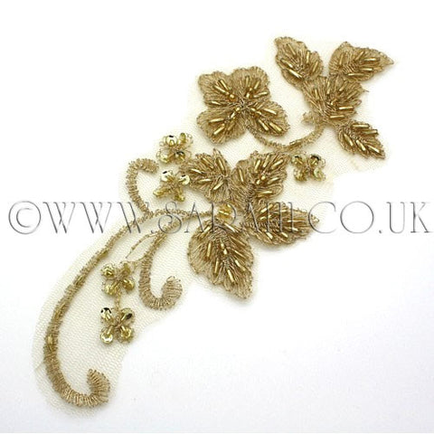 GOLD NET FLORAL APPLIQUE - sarahi.NYC - Sarahi.NYC