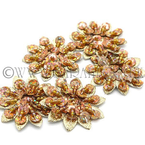 GOLD SEQUIN FLOWER PACK OF 5 - sarahi.NYC - Sarahi.NYC