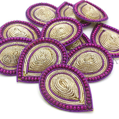 PURPLE GOLD TEAR DROP MOTIF - sarahi.NYC - Sarahi.NYC