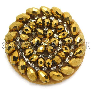 GOLD CIRCLE BEADED MOTIF - sarahi.NYC - Sarahi.NYC