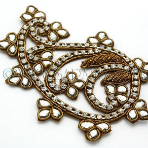 BROWN SILVER RHINESTONE APPLIQUE - sarahi.NYC - Sarahi.NYC