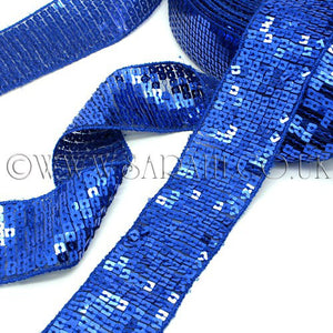 BLUE SEQUIN RIBBON TRIM - sarahi.NYC - Sarahi.NYC