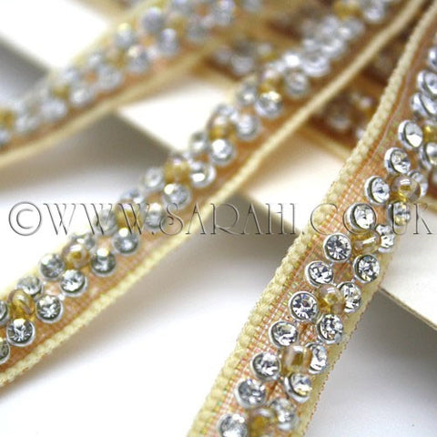 GOLD FAUX CRYSTAL TRIM - sarahi.NYC - Sarahi.NYC